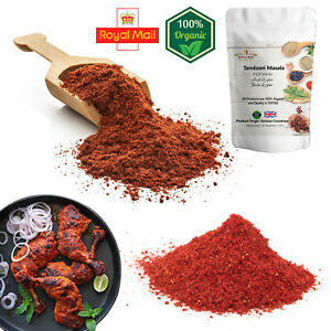 100% Pure Tandoori Chicken Masala Mix Spices Ground Red Indian Herbs Free P&P UK