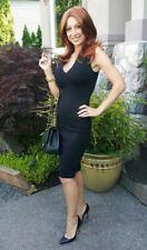 Maitai Black Fitted Zipper Dress Size small *worn once*