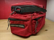VTG red Cannondale rear bicycle rack bag pack pannier Made in USA A1