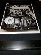 Zz Top Viva Las Vegas Rare Original Radio Promo Poster Ad Framed! #2