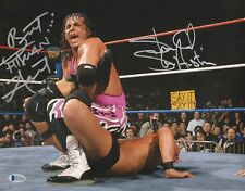 Stone Cold Steve Austin Bret Hart Signed WWE 11x14 Photo BAS COA Wrestlemania 13