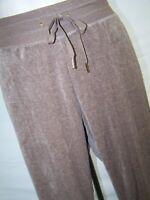 Calvin Klein Brown Sport Lounge Soft Velour Pants Womens Plus Size 0X 10W 12W