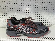 ASICS Gel-Venture 4 Mens Athletic Running Shoes Size 13 Gray Red Black T333N