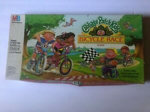 Vintage Cabbage Patch Kids Bicycle Race Board Game Milton Bradley