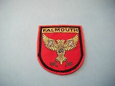 FALMOUTH  COAT OF ARMS (CREST) SOUVENIR WOVEN PATCH/BADGE (FREE UK POST)