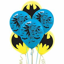 New! (6ct) Batman Superhero Birthday Latex Balloons Party Supplies 12