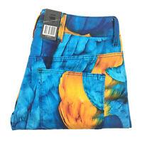 G-Star Pharrell Williams Elwood 3D Mid Macaw Print Boyfriend Jeans W25 L32 NEW