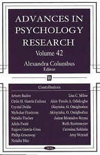 Advances in Psychology Research: 42: v. 42 - New Book