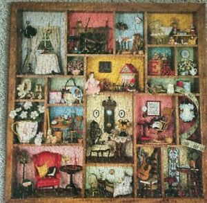 VTG 1979 Springbok Puzzle 500 Piece Tiny Treasures Doll House Furniture Complete