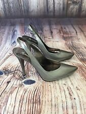 Marciano Women's Shoes Silver Pointed toe Sling Back Pump Size 9.5