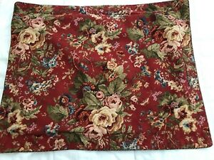 Ralph Lauren Chaps Red Floral Herringbone Summerton Standard Single Pillowsham