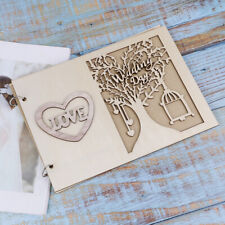 Wooden Wedding GuestBook Happiness Tree Guest Book Wedding Gift for Couples EM<w