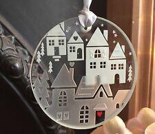Spaceform Glass Christmas Keepsake Houses With Love Tree Decoration Bauble Xmas