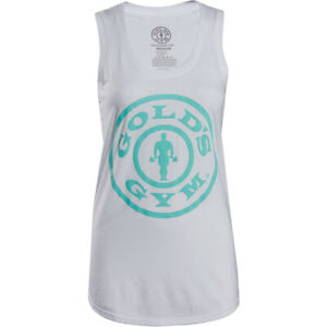 Gold's Gym Women's Weight Plate Racerback Tank Top - White
