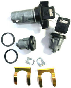 Blazer K5 79-91 Others Ignition & Door Lock Cylinder Tumbler Set Black 2 GM Key