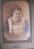 1900s Colored Girl Pearl Necklace Portrait Photo Paper Frame Greencastle Indiana