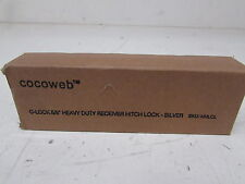 "Cocoweb Chrome C-Lock Heavy Duty Locking 5/8"" Inch Hitch Pin HHLCL"