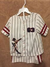 Athletic Works - 3T Baseball Jersey with Shorts Set