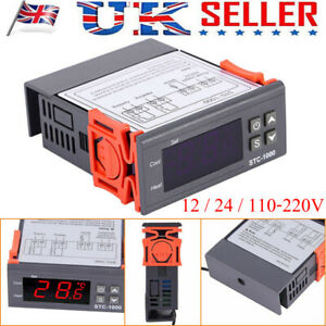 Digital Temperature Thermostat STC-1000 Controller -50℃~110℃ Heating Cooling UK
