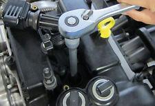 Extra Long Spark Plug Socket - Rubber Insert - 12 Point BI-HEX Double Cut 16mm