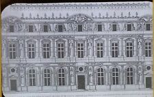 Louvre as Constructed by P Lescott in 1576, Drawing, Magic Lantern Glass Slide