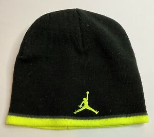 Nike Jordan Jumpman Knit Beanie Hat NEON GREEN BLACK Youth Size Michael Jordan