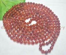 Natural Genuine Red Agate 14-100 Inches Long 8mm Onyx Beads Stranded Necklaces