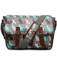 Women Oilcloth Messenger Satchel Girls Shoulder School Bag Travel Holiday A4