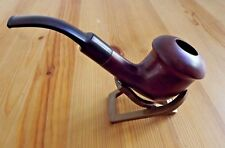 Sherlock Holmes Calabash Brown Wood Tobacco Pipe With Filter & Pouch