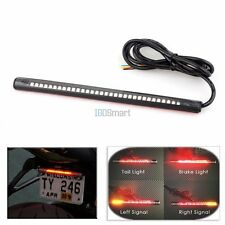 32 LED Flexible Motorcycle Tail Light Strip Brake Turn Signal Stop Integrated US