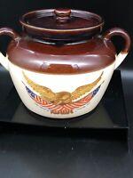 Vintage MCCOY Bean Pot Carved Wooden Eagle National Gallery of Art