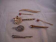 Vintage Hair Pins barrettes Lot RHINESTONE COSTUME JEWELRY HEAVEN BOX G