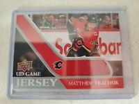 2020-21 UD Series 1 Game Jersey Relic #GJ-MT Matthew Tkachuk  - Calgary Flames