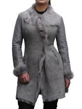 Cappotti e giacche da donna in pelle grigia con bottone
