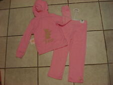 JUICY COUTURE $78  GIRLS TOD - 2PC JOG SET-TERRY  SIZE-4T  NEW 80%COTTON