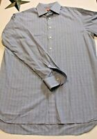 Thomas Pink Mens Long Sleeve Button Down Blue Dress Shirt Size 16 1/2  36 1/2