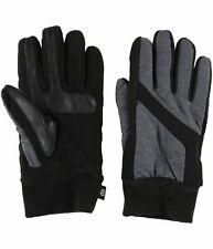 $156 Isotoner Mens Gray Black Sleekheat Smartouch Screen Winter Gloves Size S/M
