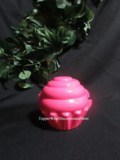 Tupperware NEW  Cupcake Cake Holder Bubblegum PINK Container Gift Card Birthday
