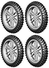 4 Lego XL MOTOCROSS Tires + Wheels (technic,bike,dirt,bicycle,motorcycle,trial)