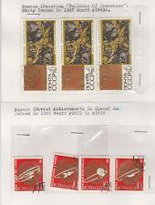 RUSSIE timbres sur de vieilles cartes d'Approbation