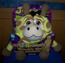 Jay at Play JAnimals GIRAFFE Wearable Stuffed Animal MEDIUM ~ Great Costume Too!