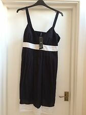 Marks And Spencer New Black And White Beach Dress