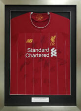 Framed 2020 Liverpool home shirt signed by 15 players - AFTAL RD