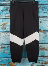 Athletic Works Girl's Black White Stripe Sweatpants Size Large 10/12