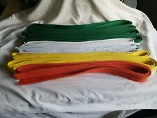 Lot of 11 Karate Belts Martial Arts Assorted Sizes