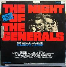 MAURICE JARRE SOUNDTRACK night of the generals LP VG+ COMO-5002 Mono 1967 USA