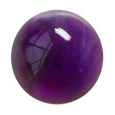12mm Redondo Cabujón-Corte Natural Africano Púrpura profundo con amatista (App £ 361)