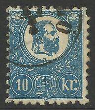 HUNGARY. 1871-73. 10k Deep Blue, Lithograph. SG: 5a. Fine Used.