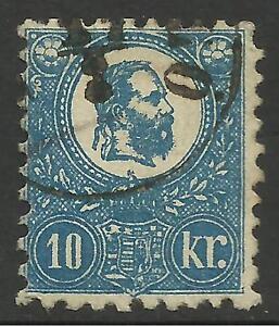 HUNGARY. 1871-73. 10k Deep Blue, Lithograph. SG: 5a. Fine Used