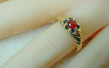 Kt Yellow Gold Ring Vintage Victorian Carnelian 14